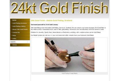 24ktGold Finish Web Design Edinburgh