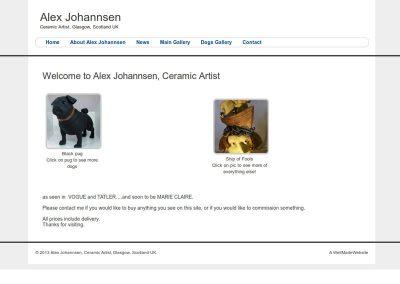 Alex Johannsen artist Web Design Edinburgh