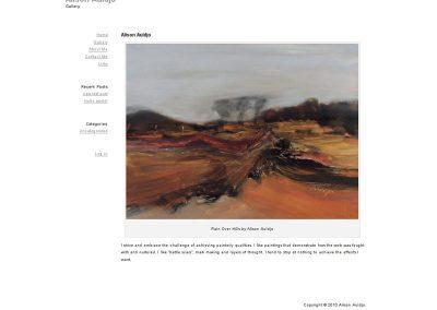 Alison-Auldjo Artist Web Design Edinburgh