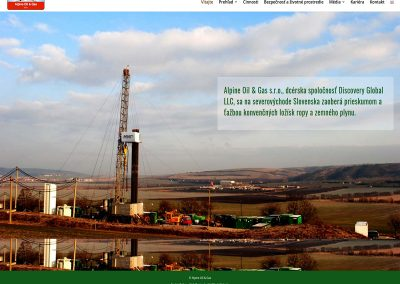 Alpine-Oil-Gas Web Design Edinburgh