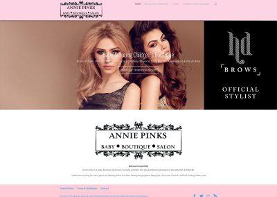 Annie-Pinks-Beauty-Salon Web Design Musselburgh Edinburgh