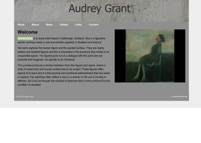 Audrey Grant Artist Web Design Edinburgh