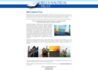 Bells-Nautical-Trust Web Design Edinburgh