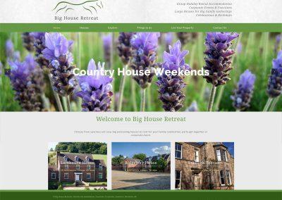 Big-House-Retreat-Holiday-Accommodation Web Design Edinburgh