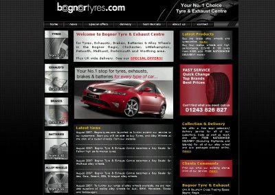 Bognortyres Motoring Web Design Edinburgh