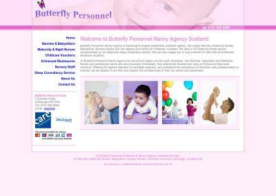 Butterfly-Personnel Web Design Edinburgh
