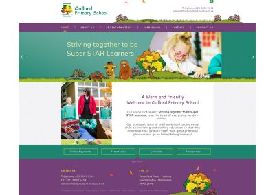 Cadlands-Primary-School Web Design Edinburgh