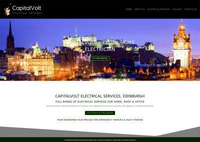 CapitalVolt-Electrican-Electrical-Services- Web Design Edinburgh