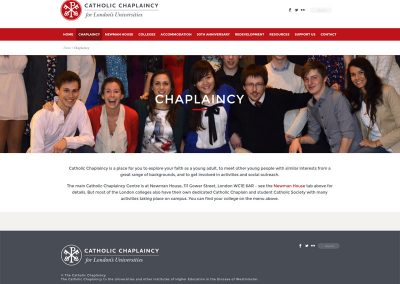 Catholic-Chaplaincy Web Design Edinburgh