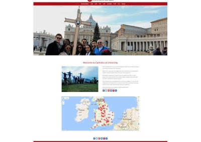 Catholics-at-University-Charity Web Design Edinburgh