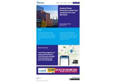 Central-Taxis Web Design Edinburgh