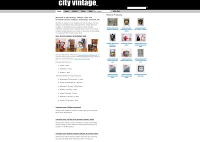 CityVintage Web Design Edinburgh