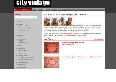 CityVintage ecommerce Web Design Edinburgh