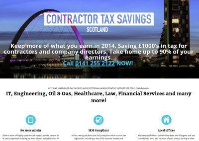 Contractor-Tax-Savings- Web Design Edinburgh