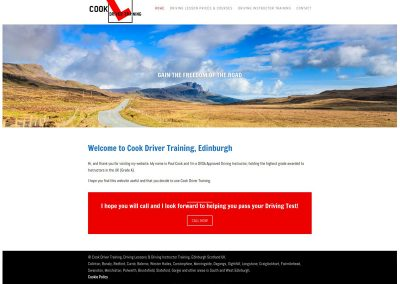 Cook-Driver-Training-Driving-Lessons Web Design Edinburgh