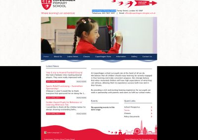 Copenhagen-Primary-School Web Design Edinburgh