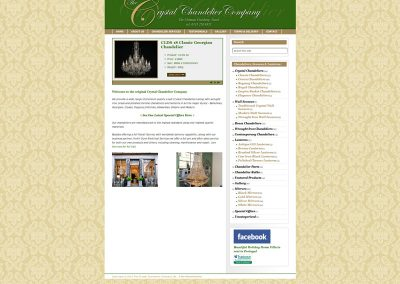 Crystal Chandelier Company lighting Web Design Edinburgh