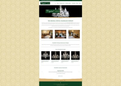 Crystal-Chandelier-Shop Ecommerce Web Design Edinburgh