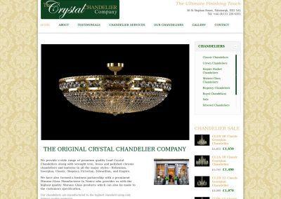 Crystal-Chandelier Web Design Edinburgh