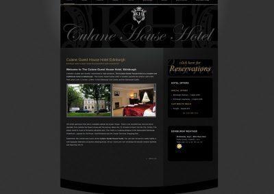 CulaneHouseHotel Web Design Edinburgh