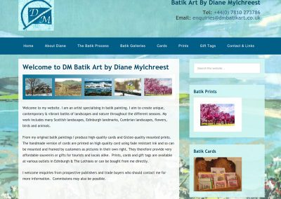 DM-Batik-Art Web Design Edinburgh