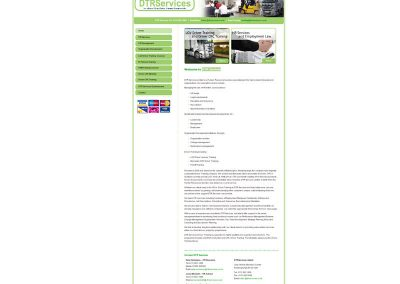 DTR Services transport Web Design Edinburgh