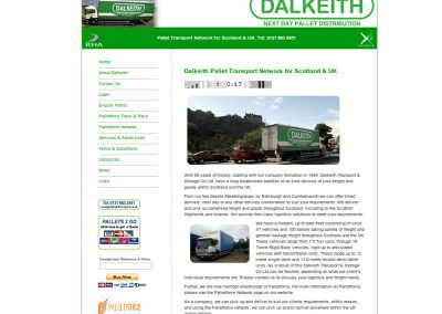 Dalkeith Pallet Transport Web Design Edinburgh
