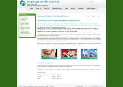 Duncan Smith Dental Web Design Edinburgh
