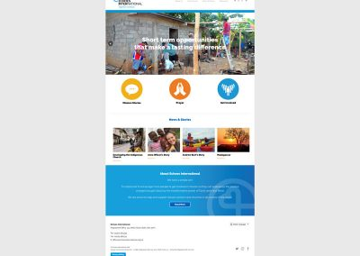 Echoes-International-Christian-Charity Web Design Edinburgh