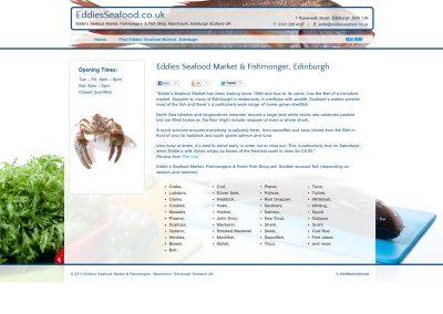 EddiesSeafood shop Web Design Edinburgh