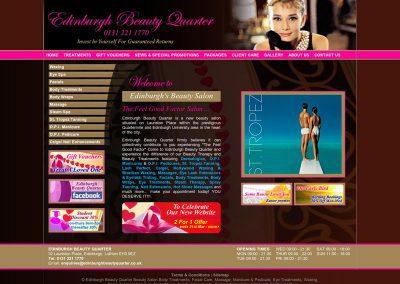 Edinburgh-Beauty-Quarter Beauty Web Design Edinburgh
