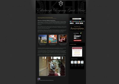 Edinburgh Regency Guest House Web Design Edinburgh