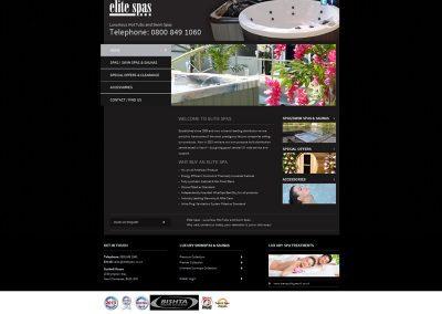 Elits-Spas Web Design Edinburgh