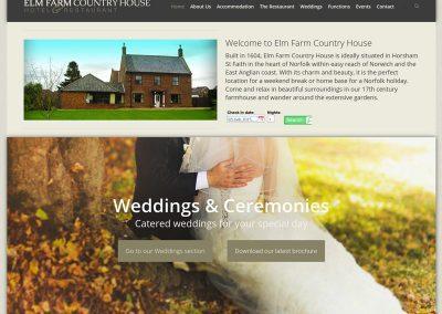Elm-Farm-Country-House Web Design Edinburgh
