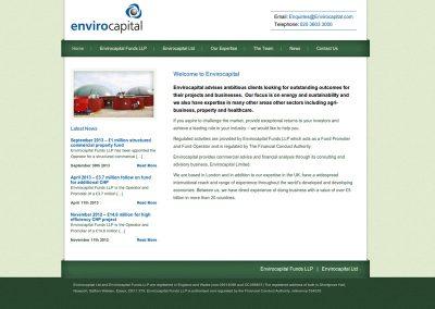 Envirocapital-financial Web Design Edinburgh