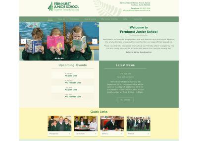 Fernhurst-Junior-School Web Design Edinburgh