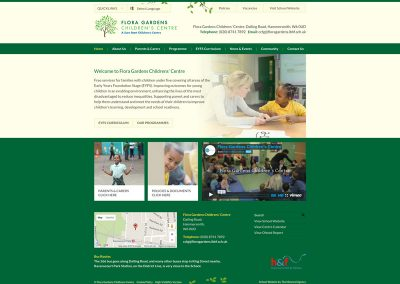 Flora-Gardens-Childrens-Centre Web Design Edinburgh