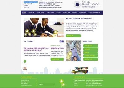 Fulham-Primary-School Web Design Edinburgh