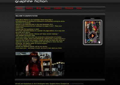Graphite Fiction Web Design Edinburgh