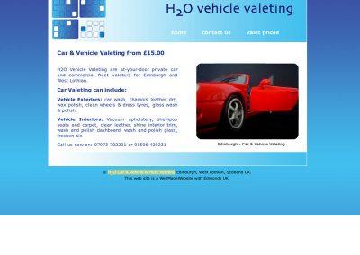 H2O Car & Vehicle & Fleet Valeting Web Design Edinburgh