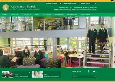 Hardenhuish-School Web Design Edinburgh
