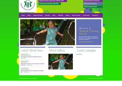 Havelock Primary school Web Design Edinburgh