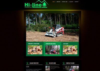 Hiline Forestry Gardening Web Design Edinburgh
