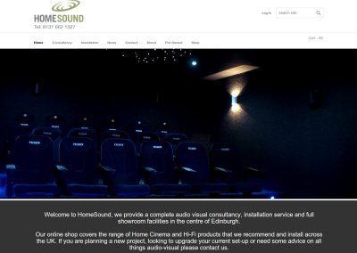HomeSound-hifi-shop Web Design Edinburgh