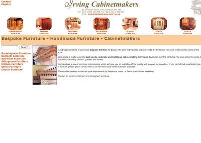 Irving Cabinetmakers Web Design Edinburgh