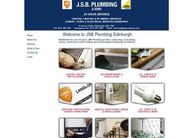 JSB-Plumbing Web Design Edinburgh