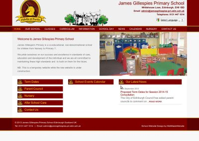 James-Gillespies-Primary School Web Design Edinburgh