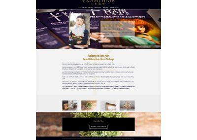 Kamihair-chinese-hairdressers Web Design Edinburgh