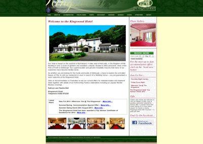 Kingswood Hotel Web Design Edinburgh