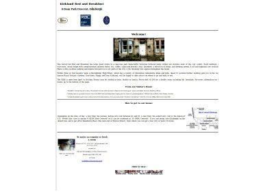 Kirkland bed and breakfast web design Edinburgh